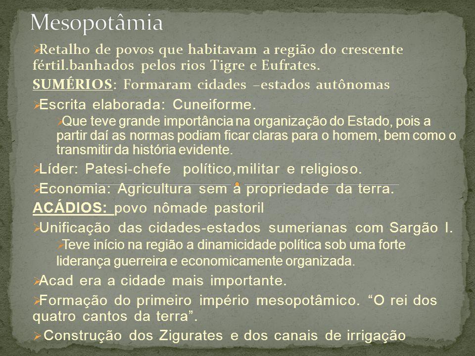 AMORRITAS OU PRIMEIRO IMPÉRIO BABILÔNICO.