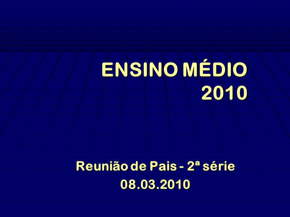 ENSINO MÉDIO 2010 Reunião de Pais - 2ª série 08.03.2010