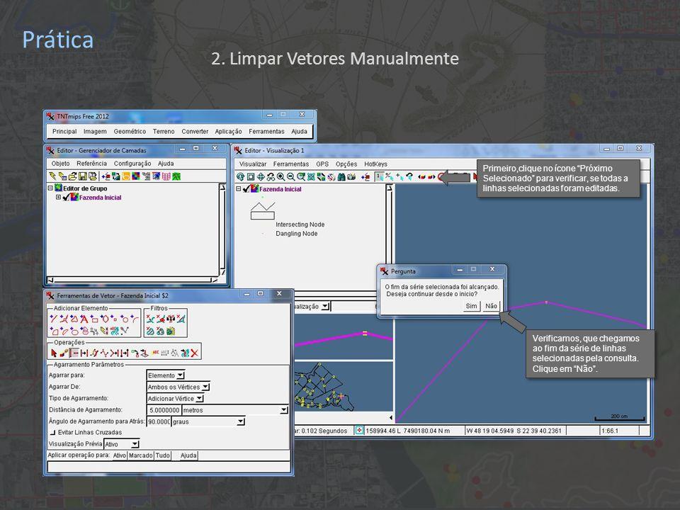 Prática Primeiro,clique no ícone Próximo Selecionado para verificar, se todas a linhas selecionadas foram editadas.
