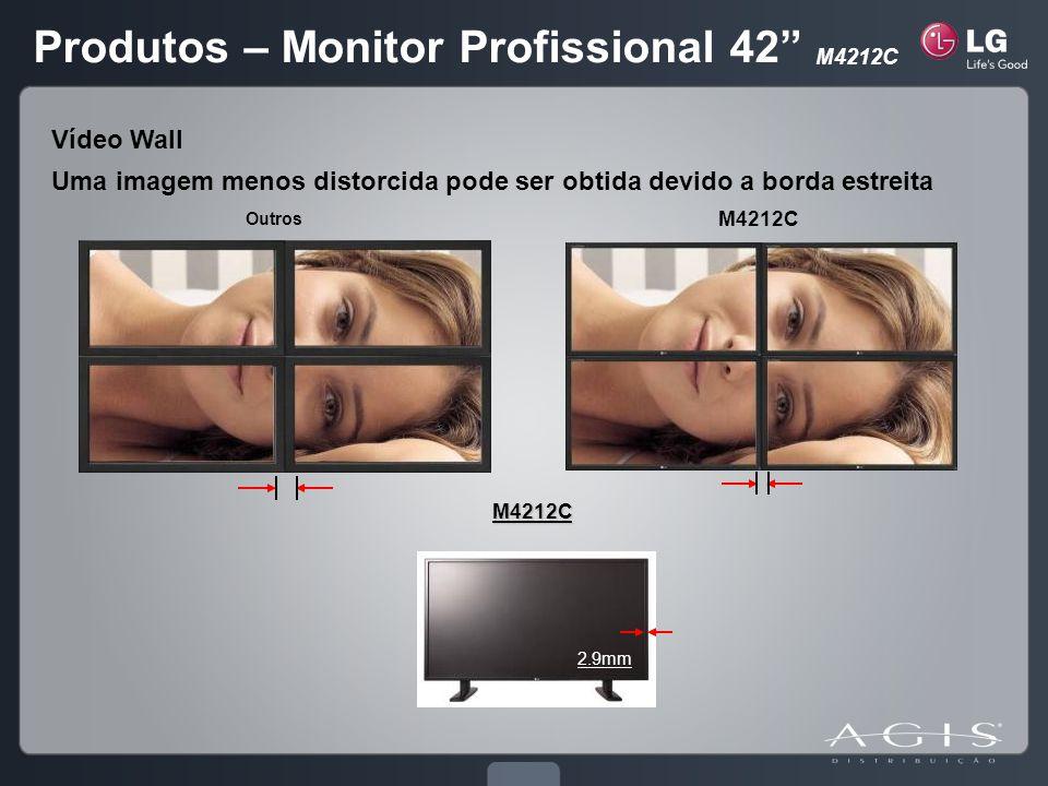 2.9mmM4212C M4212C Outros Vídeo Wall Uma imagem menos distorcida pode ser obtida devido a borda estreita Produtos – Monitor Profissional 42 M4212C