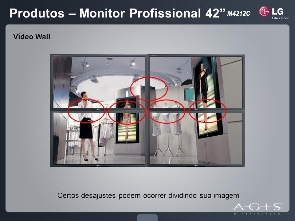 Certos desajustes podem ocorrer dividindo sua imagem Vídeo Wall Produtos – Monitor Profissional 42 M4212C