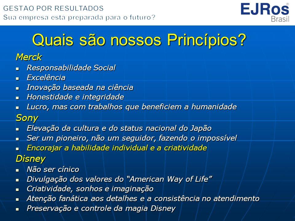 Quais são nossos Princípios? Merck Responsabilidade Social Responsabilidade Social Excelência Excelência Inovação baseada na ciência Inovação baseada