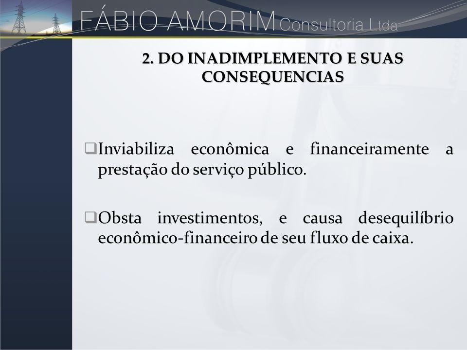 Inviabiliza econômica e financeiramente a prestação do serviço público. Obsta investimentos, e causa desequilíbrio econômico-financeiro de seu fluxo d