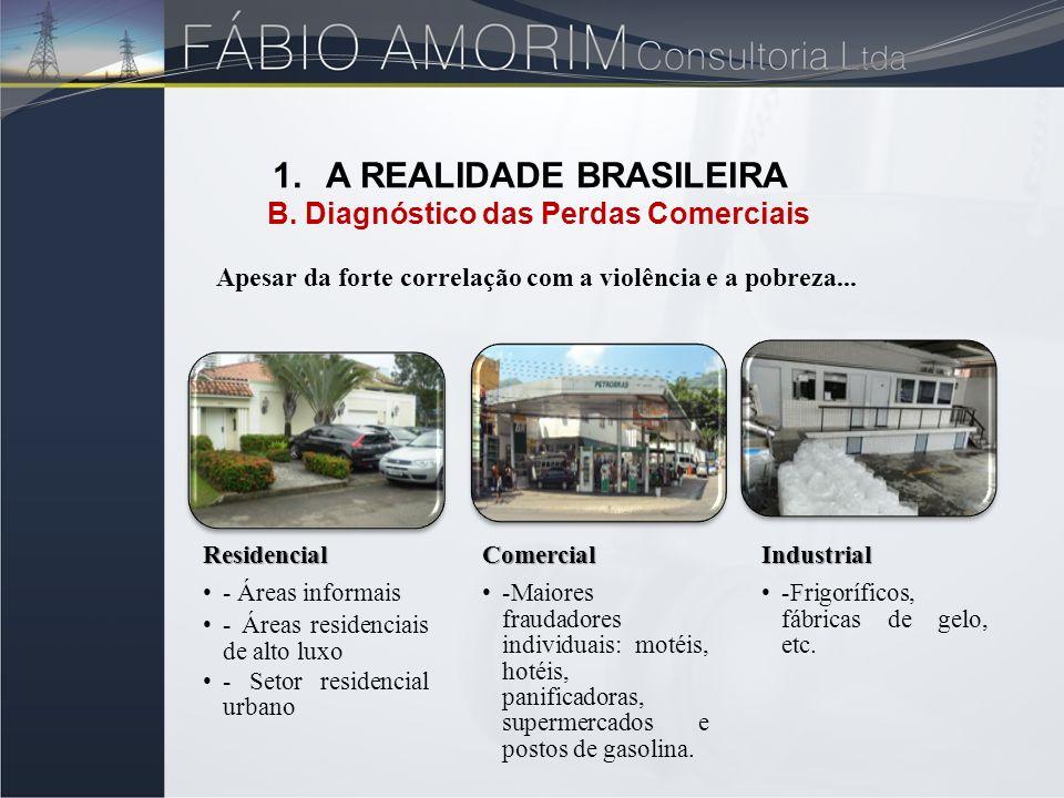 Residencial - Áreas informais - Áreas residenciais de alto luxo - Setor residencial urbanoComercial -Maiores fraudadores individuais: motéis, hotéis,
