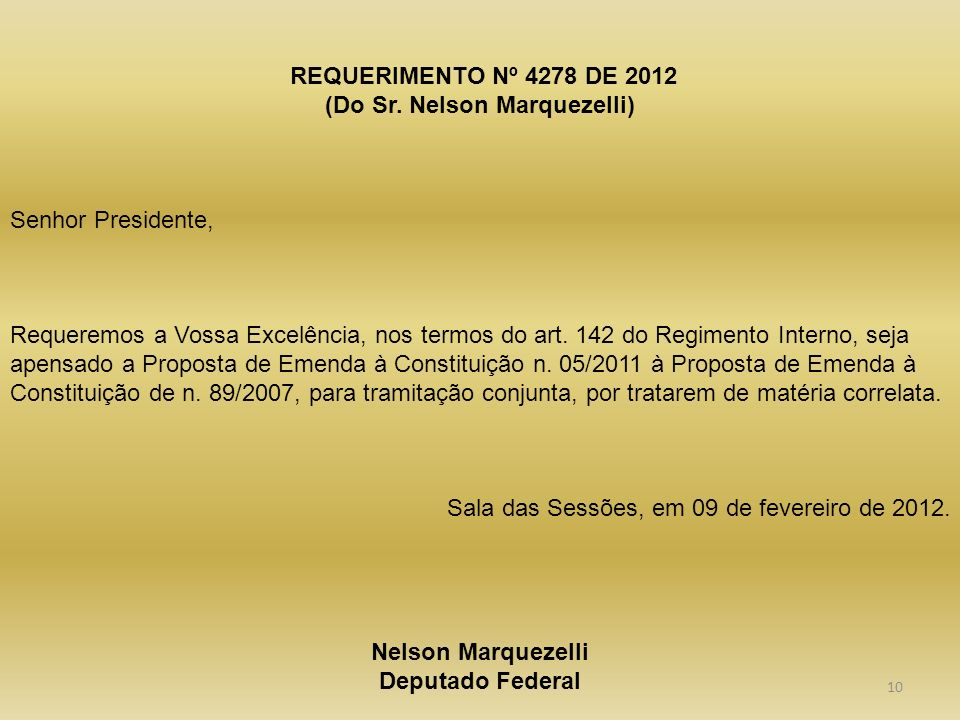REQUERIMENTO Nº 4278 DE 2012 (Do Sr.