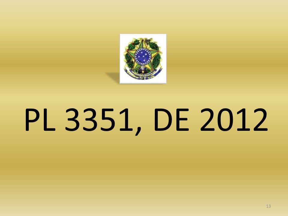 PL 3351, DE 2012 13