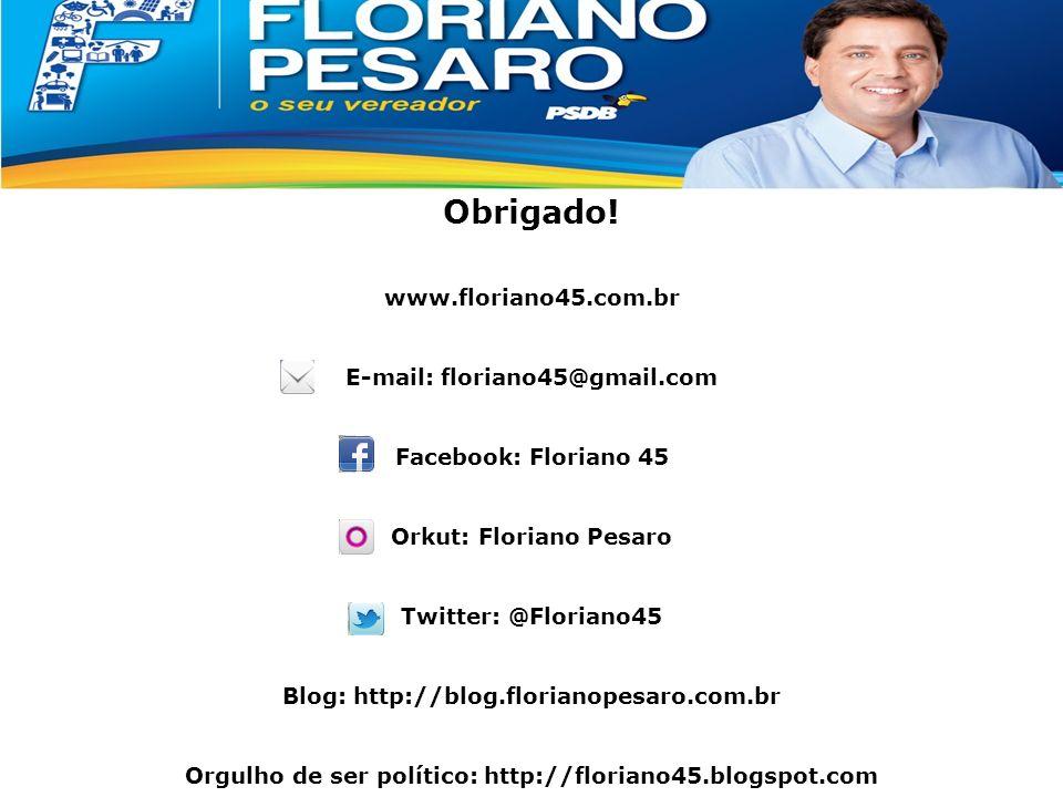 Apresentação Classe Média Obrigado! www.floriano45.com.br E-mail: floriano45@gmail.com Facebook: Floriano 45 Orkut: Floriano Pesaro Twitter: @Floriano