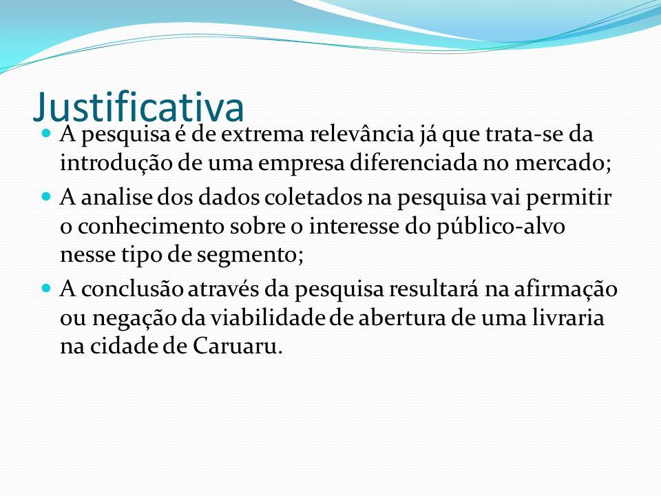 Objetivo geral O objetivo geral é analisar se é viável ou não a abertura da livraria Entrelinhas na cidade de Caruaru tendo como ponto de venda uma loja no Shopping Difusora.