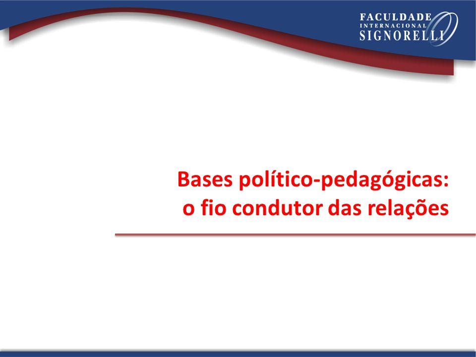Bases político-pedagógicas: o fio condutor das relações
