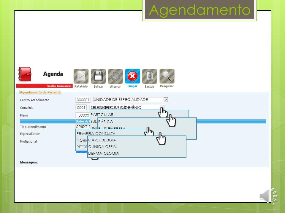 Apresentação do Sistema Agendamento Versão 2.1