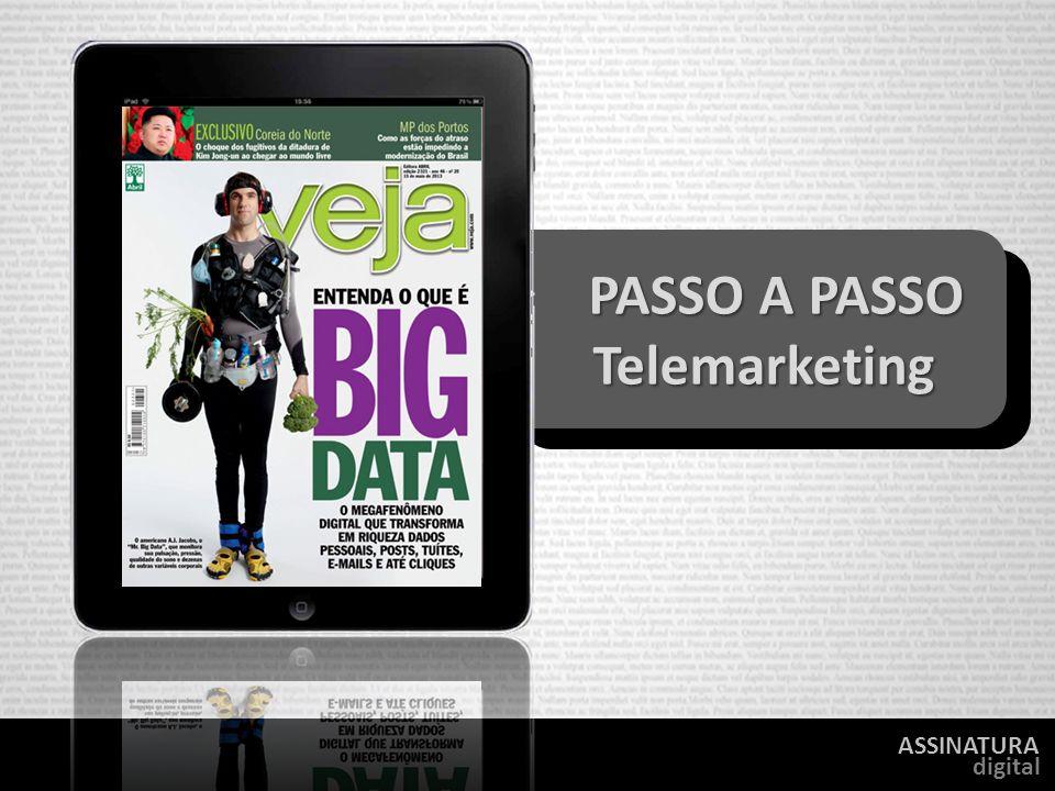ASSINATURA digital PASSO A PASSO PASSO A PASSO Telemarketing Telemarketing