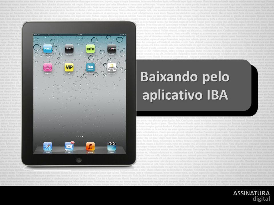 ASSINATURA digital Baixando pelo aplicativo IBA