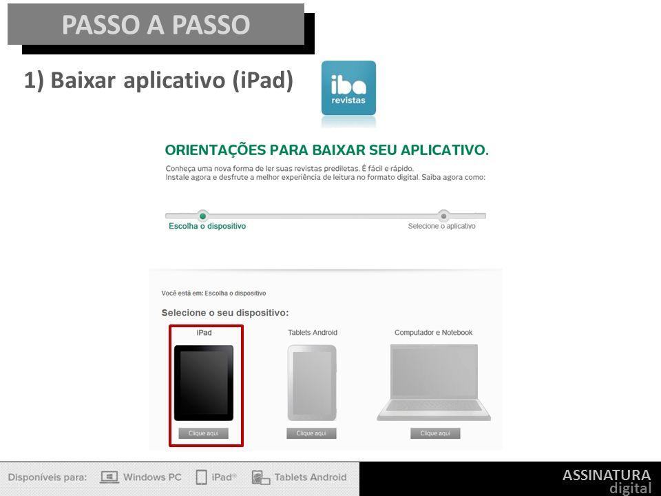 ASSINATURA digital PASSO A PASSO 1) Baixar aplicativo (iPad)