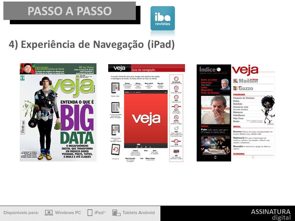 ASSINATURA digital PASSO A PASSO 4) Experiência de Navegação (iPad)