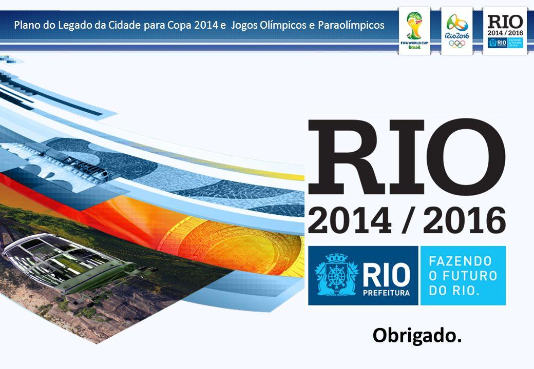 Obrigado. Plano do Legado da Cidade para Copa 2014 e Jogos Olímpicos e Paraolímpicos