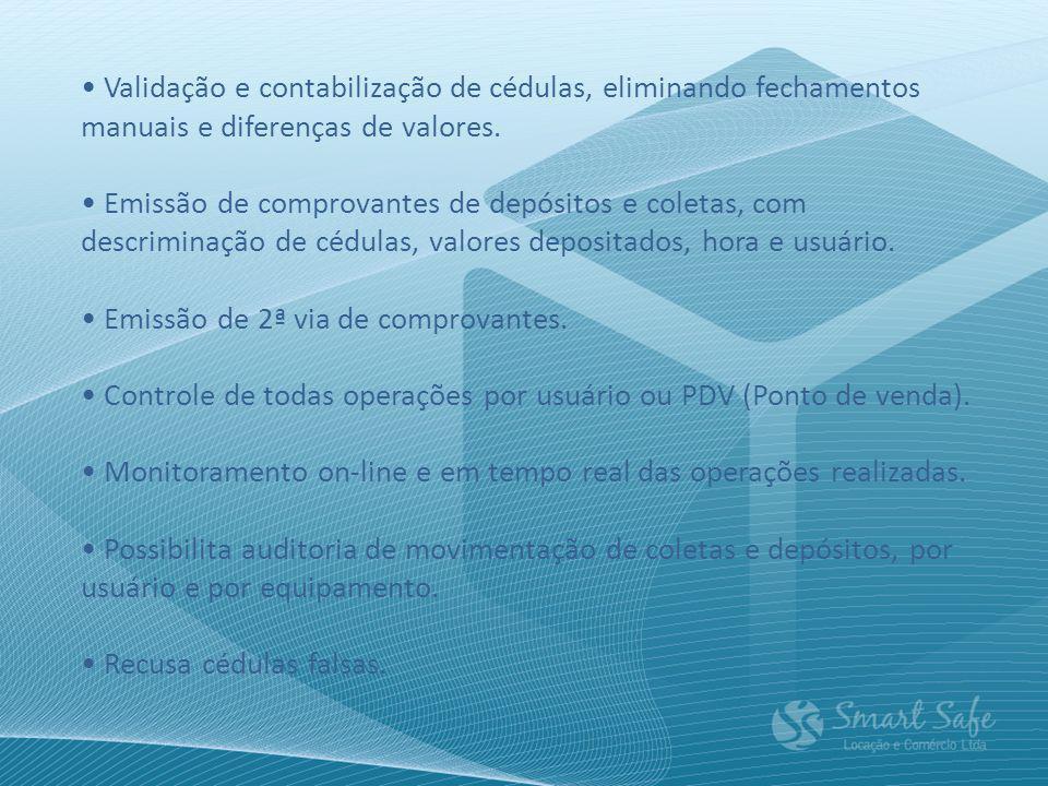 Validação e contabilização de cédulas, eliminando fechamentos manuais e diferenças de valores.