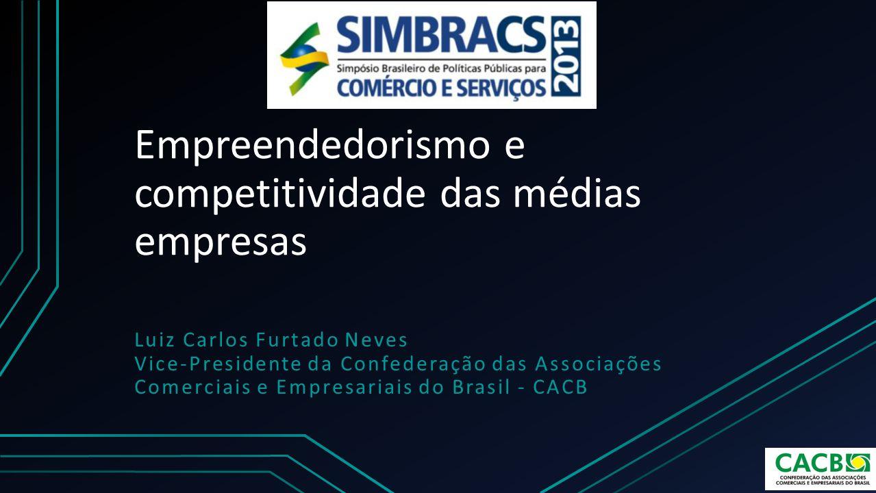 Empreendedorismo e competitividade das médias empresas Luiz Carlos Furtado Neves Vice-Presidente da Confederação das Associações Comerciais e Empresar