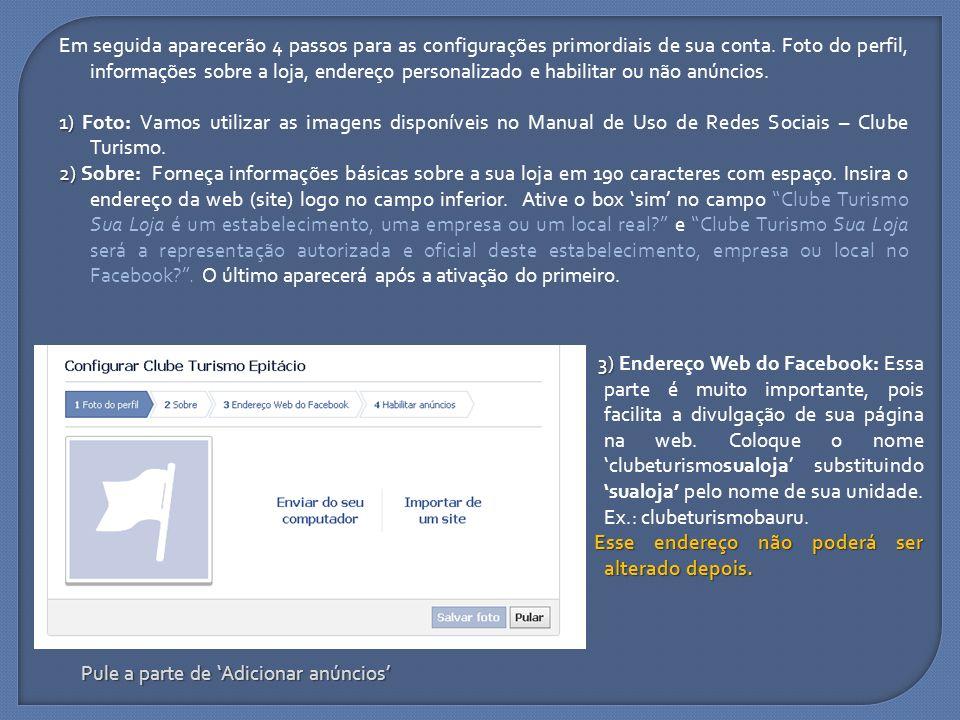 Com os passos iniciais terminados, o facebook abrirá na sua página.