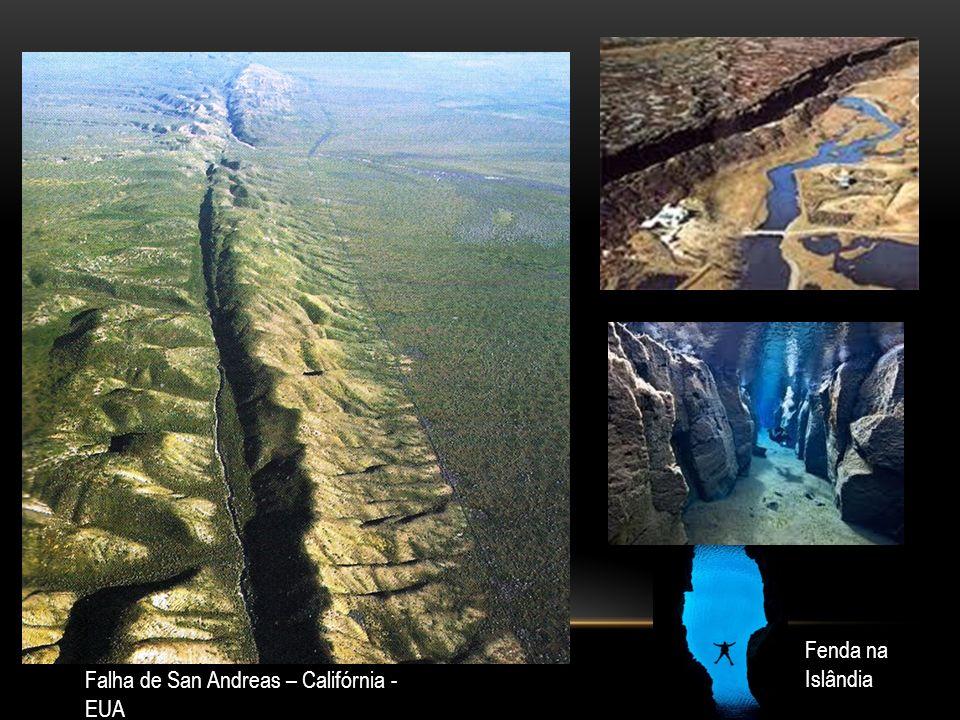 Falha de San Andreas – Califórnia - EUA Fenda na Islândia