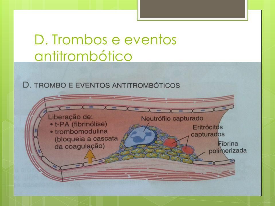 D. Trombos e eventos antitrombótico