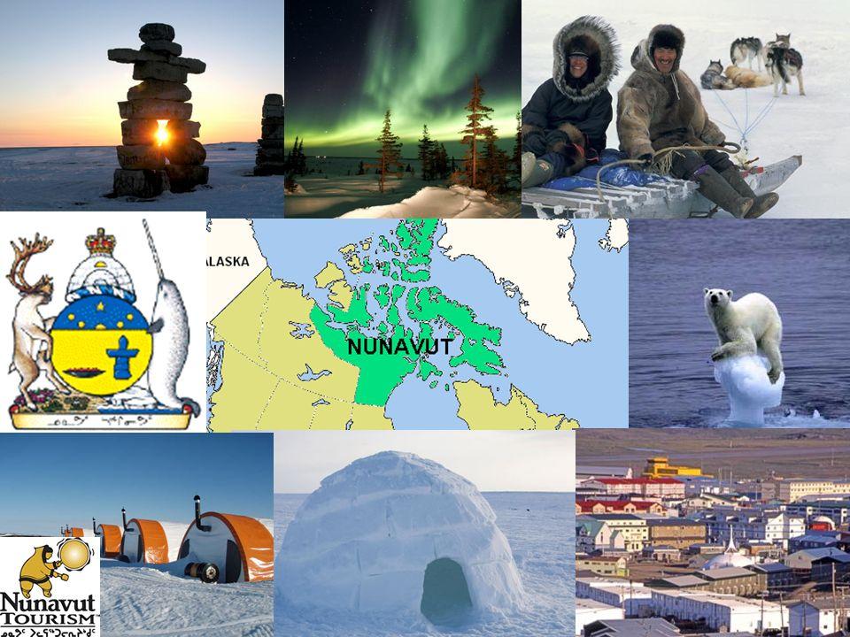 Criação do Território de Nunavut Em 1999 a nação autóctone (original, nativa) Inuit (os esquimós – termo pejorativo atribuído por grupos nativos rivai