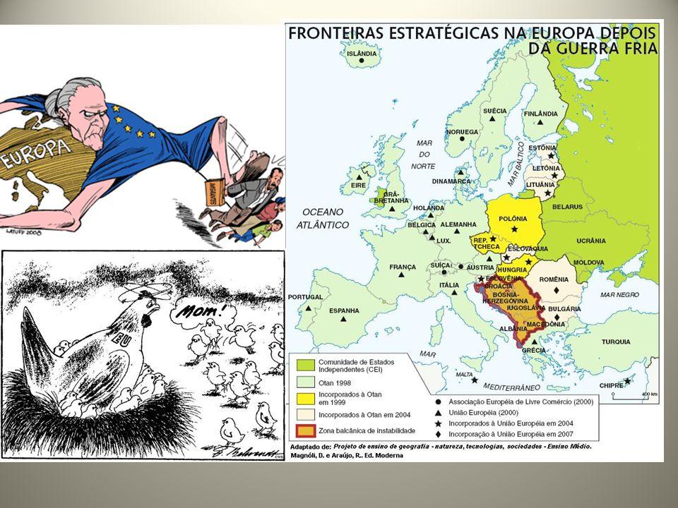 -2004: maior ampliação do bloco com 10 adesões, expandindo sua influência ao antigo leste europeu: Chipre, Malta, Estônia, Letônia, Lituânia, Polônia, República Tcheca, Eslováquia, Hungria e Eslovênia.