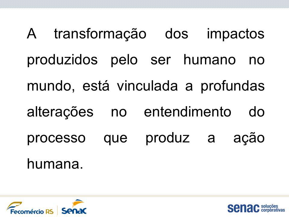 A transformação dos impactos produzidos pelo ser humano no mundo, está vinculada a profundas alterações no entendimento do processo que produz a ação
