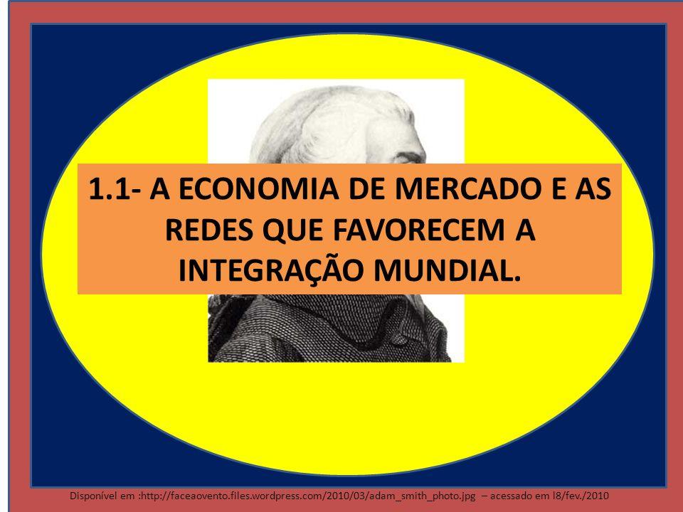 Disponível em :http://faceaovento.files.wordpress.com/2010/03/adam_smith_photo.jpg – acessado em l8/fev./2010 1.1- A ECONOMIA DE MERCADO E AS REDES QU