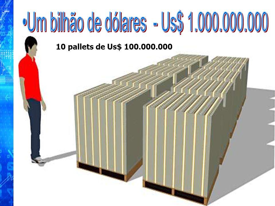 10 pallets de Us$ 100.000.000