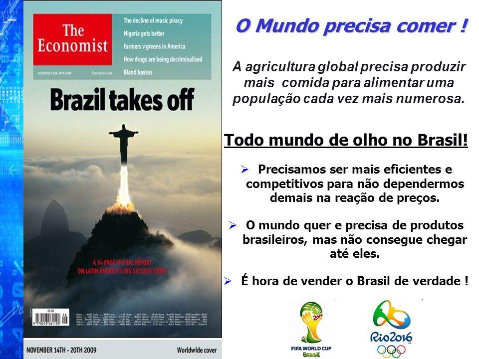 Todo mundo de olho no Brasil! Precisamos ser mais eficientes e competitivos para não dependermos demais na reação de preços. O mundo quer e precisa de