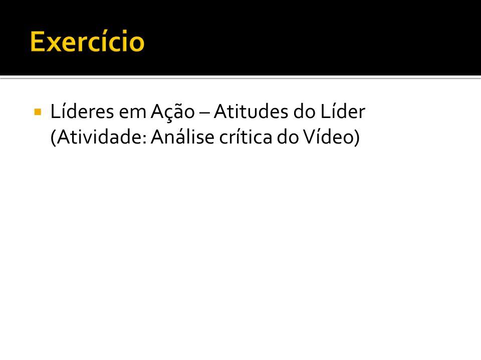 Líderes em Ação – Atitudes do Líder (Atividade: Análise crítica do Vídeo)