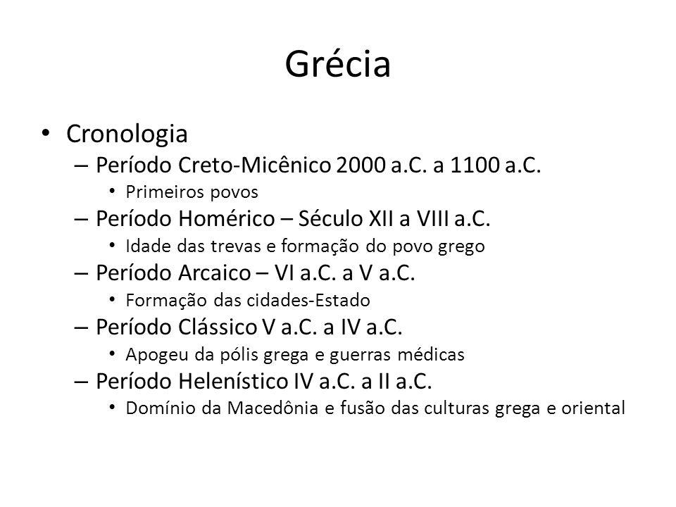 Grécia Cronologia – Período Creto-Micênico 2000 a.C.