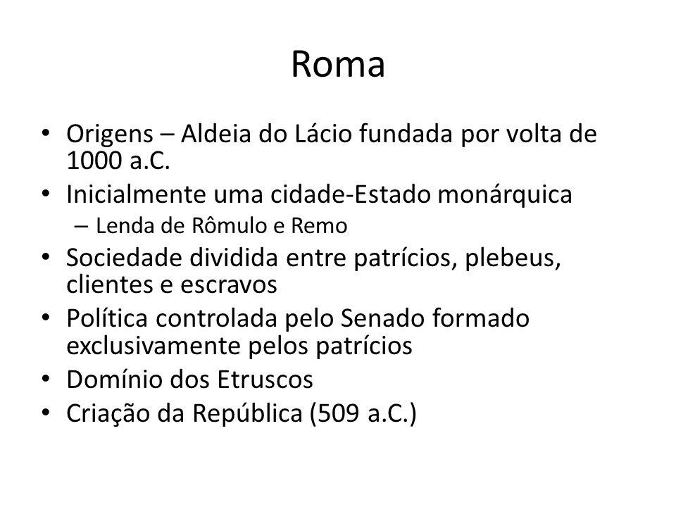 Roma Origens – Aldeia do Lácio fundada por volta de 1000 a.C.