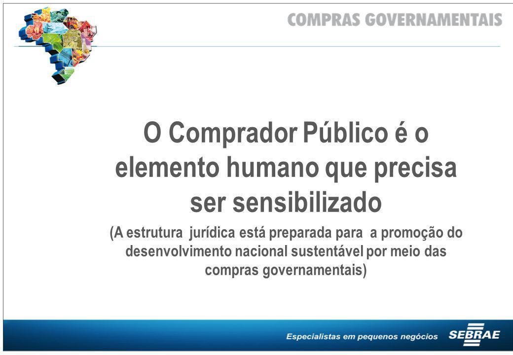 O Comprador Público é o elemento humano que precisa ser sensibilizado (A estrutura jurídica está preparada para a promoção do desenvolvimento nacional