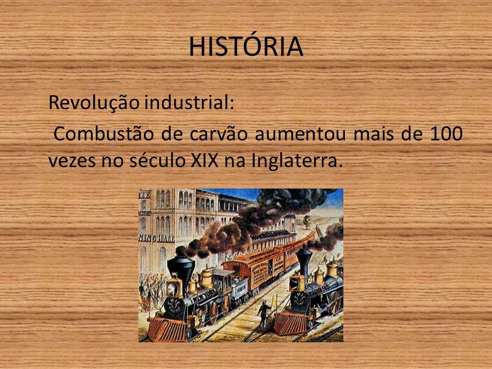 HISTÓRIA Revolução industrial: Combustão de carvão aumentou mais de 100 vezes no século XIX na Inglaterra.
