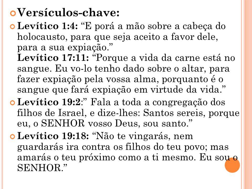 O nome Levítico tem relação com Levi um dos filhos de Jacó. Essa tribo foi escolhida para ministrarem diante de Deus e cuidarem de toda tarefa do tabe