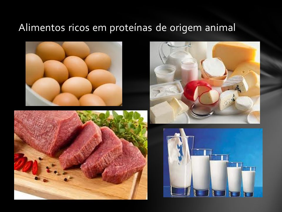 Alimentos ricos em proteínas de origem animal