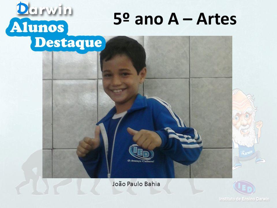 João Paulo Bahia 5º ano A – Artes