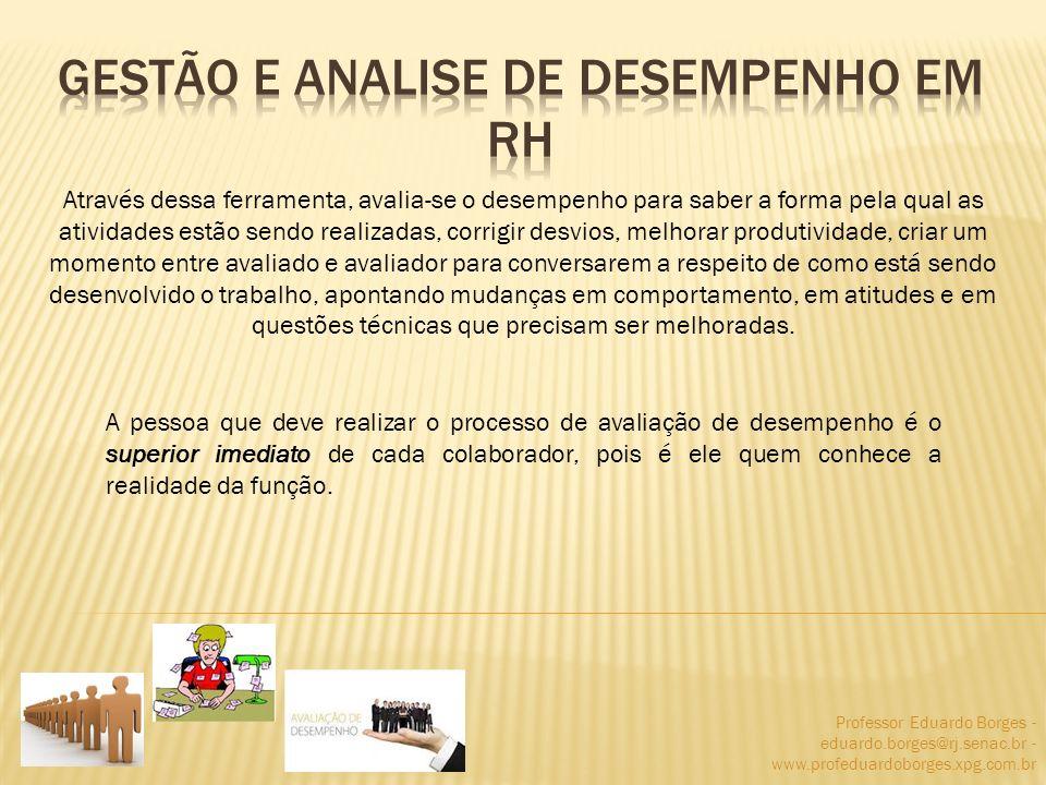 Professor Eduardo Borges - eduardo.borges@rj.senac.br - www.profeduardoborges.xpg.com.br Através dessa ferramenta, avalia-se o desempenho para saber a