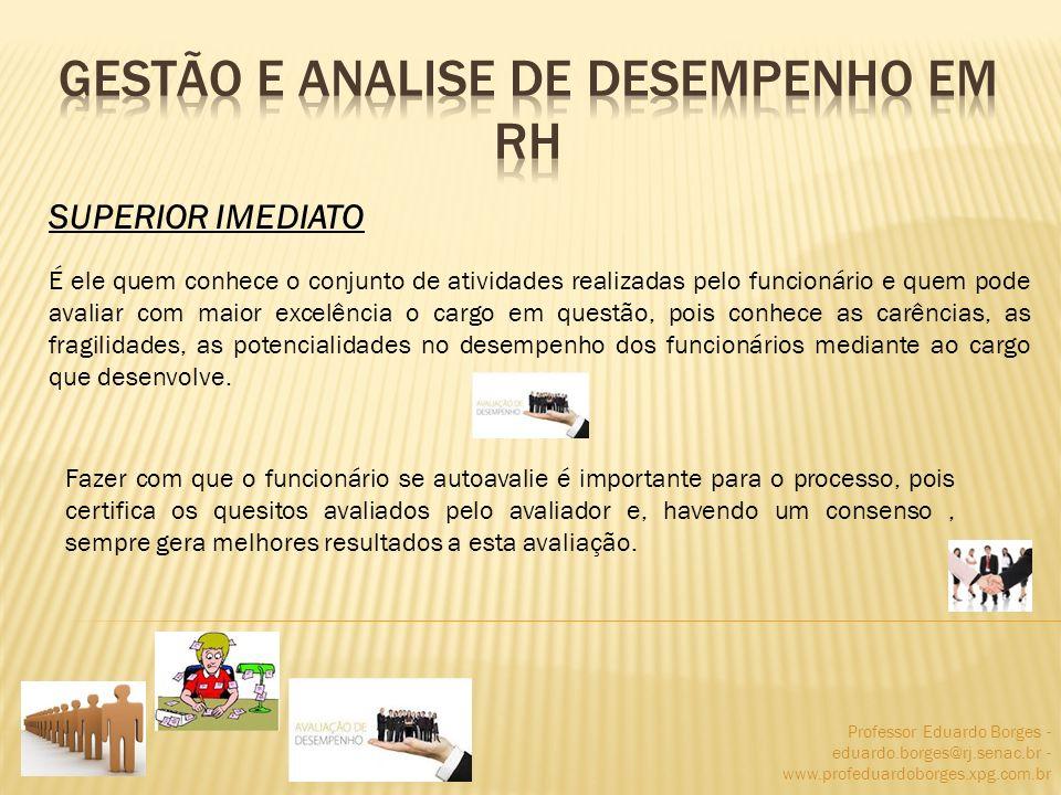 Professor Eduardo Borges - eduardo.borges@rj.senac.br - www.profeduardoborges.xpg.com.br É ele quem conhece o conjunto de atividades realizadas pelo f