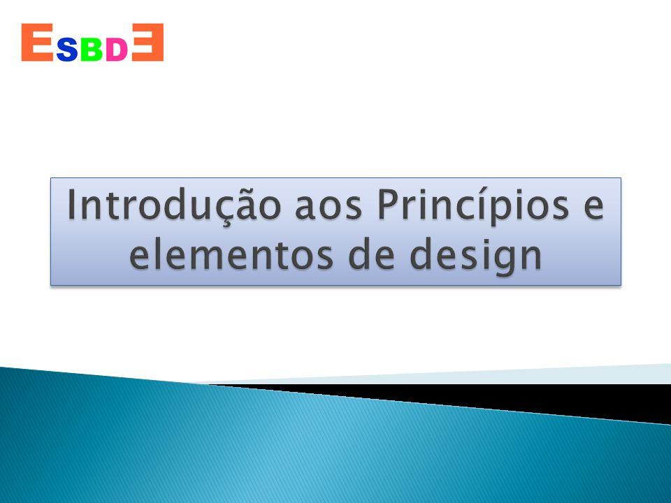 O que são os princípios e elementos de Design.