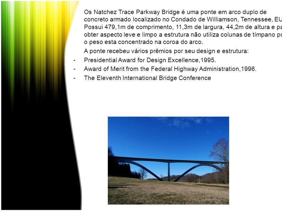 Os Natchez Trace Parkway Bridge é uma ponte em arco duplo de concreto armado localizado no Condado de Williamson, Tennessee, EUA. Possui 479,1m de com