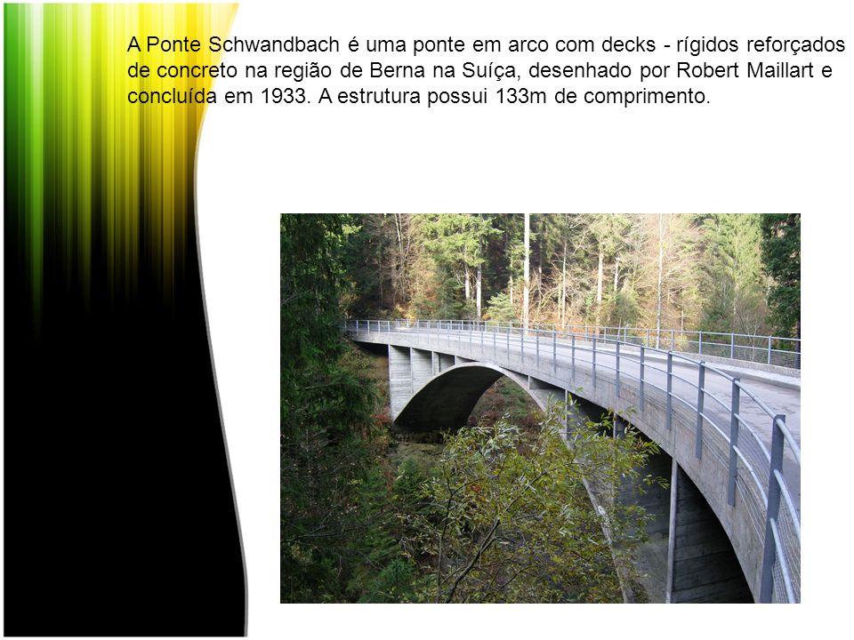 A Ponte Schwandbach é uma ponte em arco com decks - rígidos reforçados de concreto na região de Berna na Suíça, desenhado por Robert Maillart e conclu