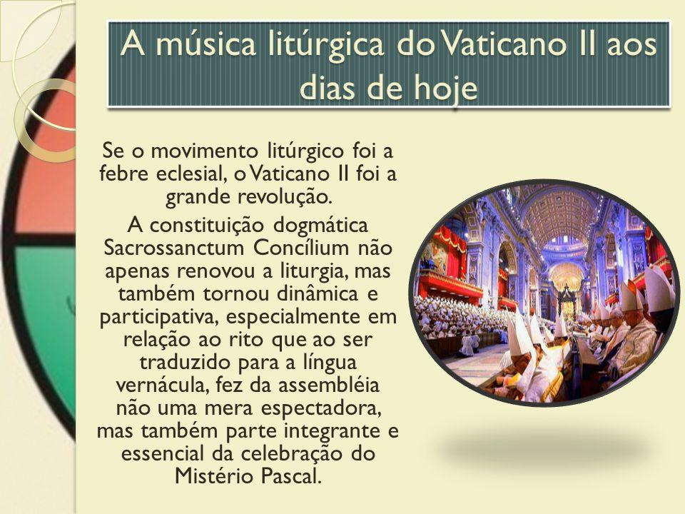 Se o movimento litúrgico foi a febre eclesial, o Vaticano II foi a grande revolução. A constituição dogmática Sacrossanctum Concílium não apenas renov