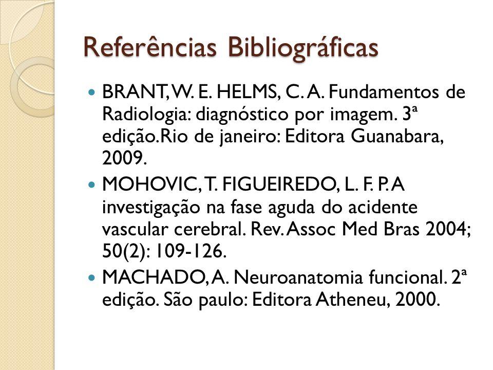 Referências Bibliográficas BRANT, W.E. HELMS, C. A.