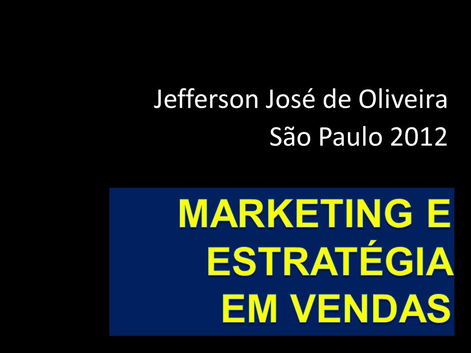 Jefferson José de Oliveira São Paulo 2012