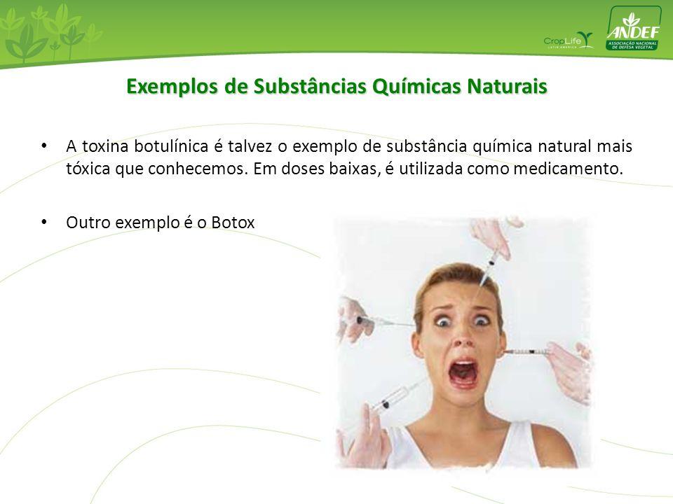 Exemplos de Substâncias Químicas Naturais A toxina botulínica é talvez o exemplo de substância química natural mais tóxica que conhecemos. Em doses ba