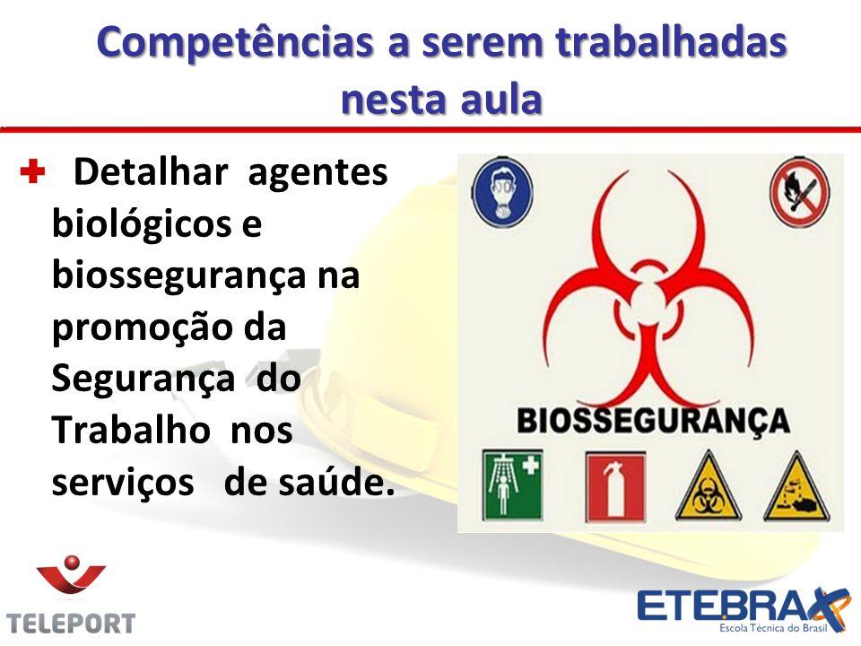 Detalhar agentes biológicos e biossegurança na promoção da Segurança do Trabalho nos serviços de saúde.