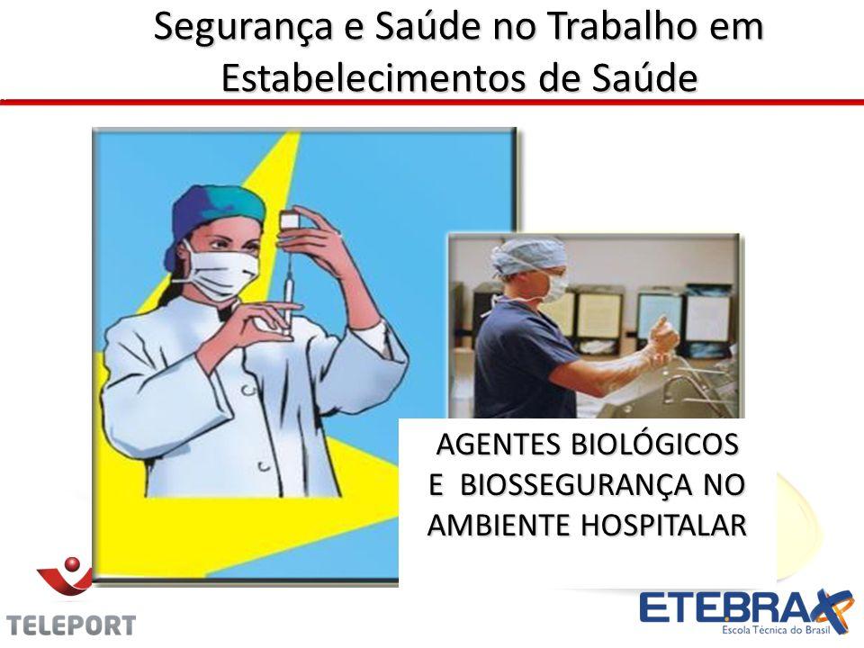 Segurança e Saúde no Trabalho em Estabelecimentos de Saúde AGENTES BIOLÓGICOS E BIOSSEGURANÇA NO AMBIENTE HOSPITALAR