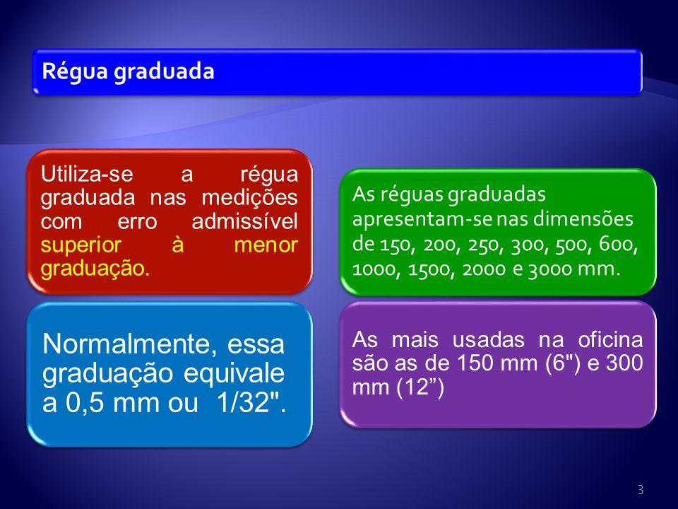 Régua de encosto interno Destinada a medições que apresentem faces internas de referência. 4